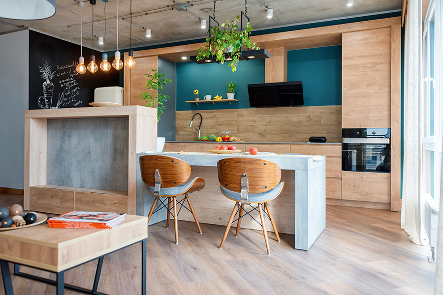 Industriele-keuken-industrieel-interieur-zwarte-keuken-loft