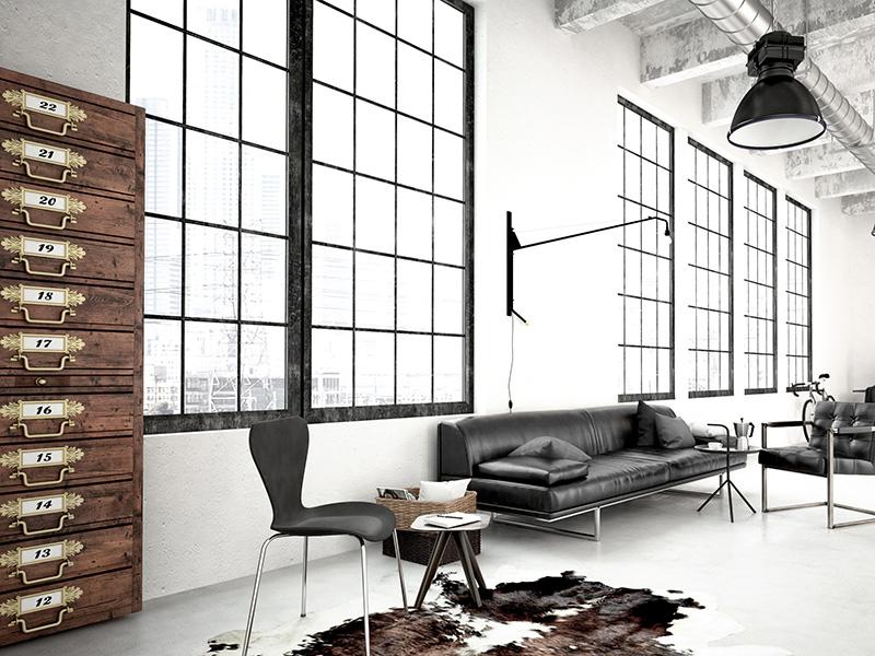 Industriele-bank-industrieel-interieur-industrial-couch-industrial-interior-leren-bank-leather-couch-zwart-bruin-grijs-black-brown-grey