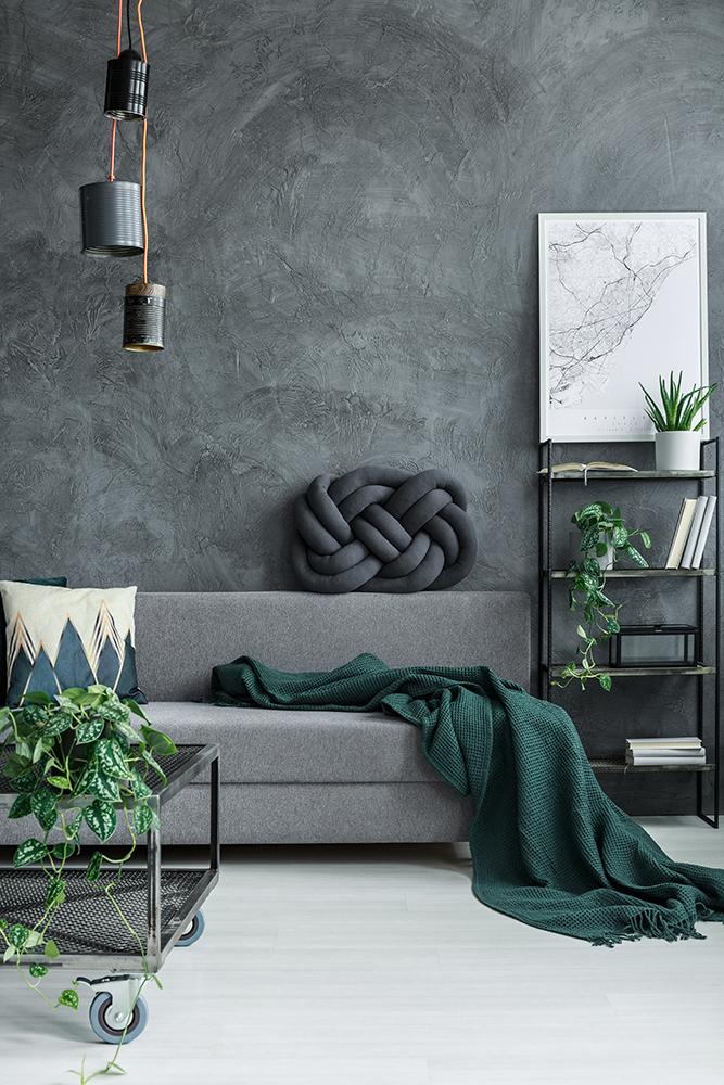 Scandinavisch interieur grijs interieur groen wonen