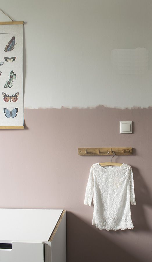 helft muur verven verftechniek muur half verven slordig halve muur verven kinderkamer halve muur verven woonkamer half geschilderde muur