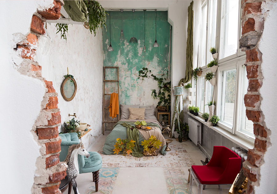 Bohemian-slaapkamer