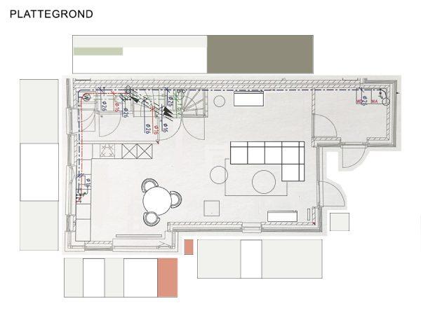 Moodboard met producten voor kleuradvies kleuren combineren kleurenplan interieurplan