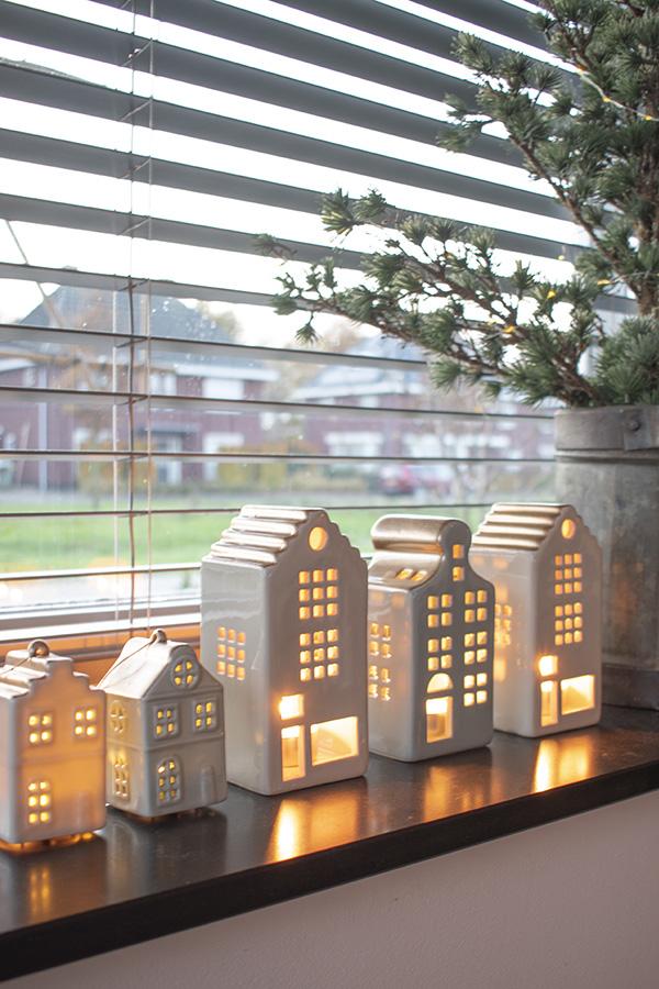 Kersthuisjes winterhuisjes kerstdecoratie kerstversiering sfeerverlichting