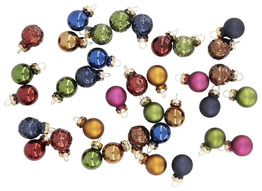 Glitter-kerstballen