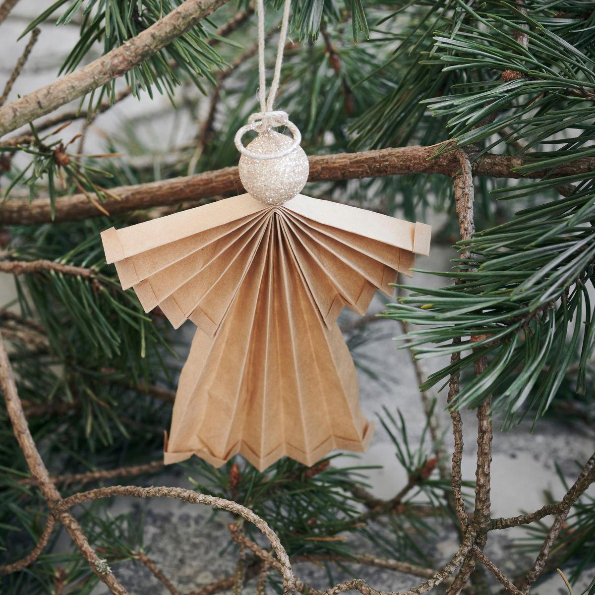 kerstengel-kerstengels in boom-papieren kerstversiering kerstdecoratie kerstengel voor in boom