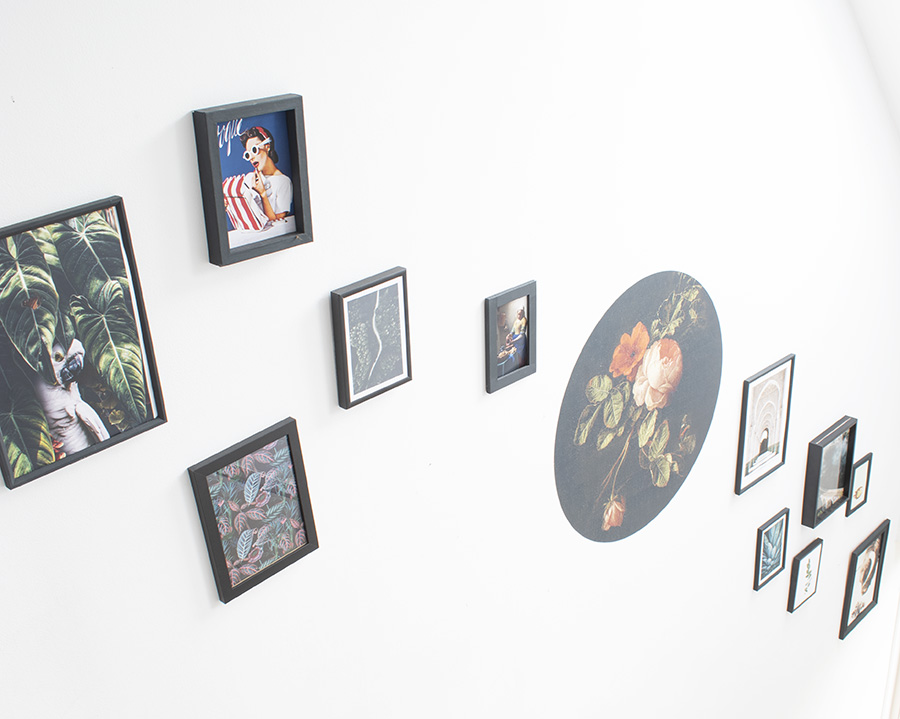Gallery-wall-trap-hal-wanddecoratie-posters-muur