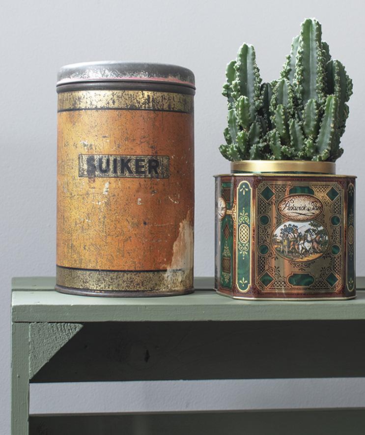 Oude Blikken In Huis Als Vintage Decoratie 100 Woongeluk