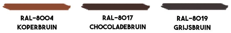 Bruine-RAL-kleuren