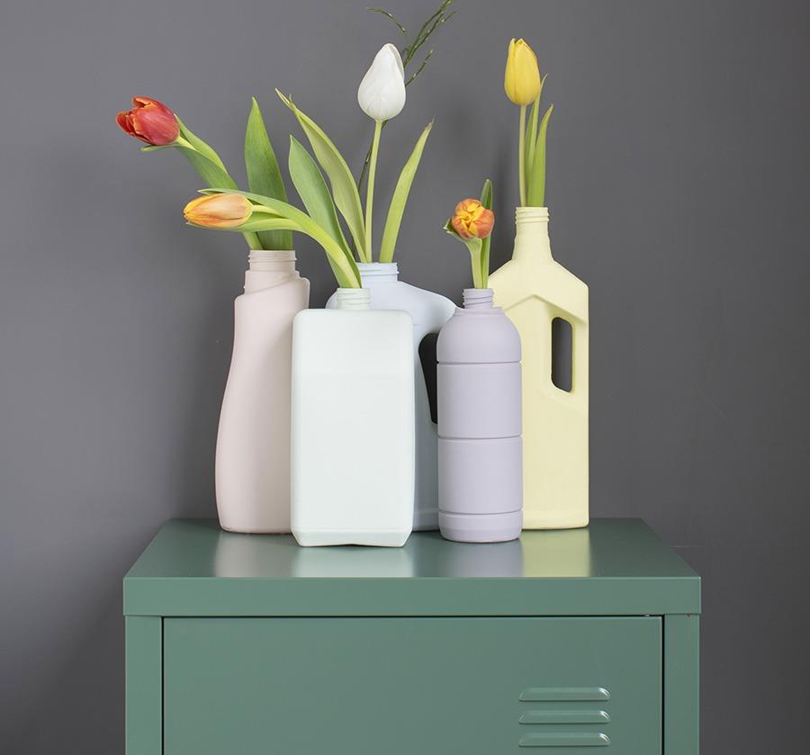 DIY interieur decoratie interieur DIY vaas bloemen in vaas locker woonblog